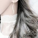 現貨 韓國氣質百搭限量微鑲單鑽無限流線水鑽925銀針耳環 S93835 批發價 Danica 韓系飾品 韓國連線