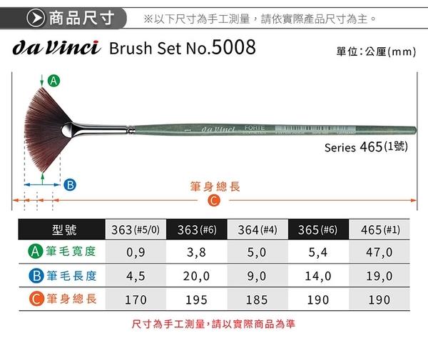『ART小舖』da vinci德國達芬奇 FORTE 5008 合成纖維毛畫筆組 單組