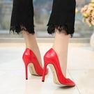 尖頭淺口 11CM偽娘大碼超高跟細跟 40-46碼 變裝情趣白『洛小仙女鞋』YJT