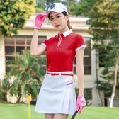 高爾夫女裝夏季短裙GOLF衣服裝裙子百褶時尚裙褲防走光迷爾運動裙   初見居家
