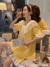 睡衣 睡衣女夏季純棉短袖薄款韓版清新學生家居服女夏甜美可愛公主套裝 星河光年
