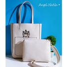 高質感熱賣側背包-可愛貓咪大容量二件式子母斜背包 (SBA0219) AngelNaNa