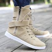 馬丁靴男士雪地潮流短靴男鞋高筒男靴馬靴中筒