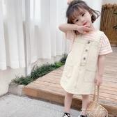 兒童吊帶裙童裝2020夏季新款中小童寶寶韓版洋氣男女童棉布吊帶裙 米娜小鋪