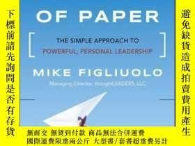 二手書博民逛書店One罕見Piece of Paper: The Simple Approach to Powerful, Per