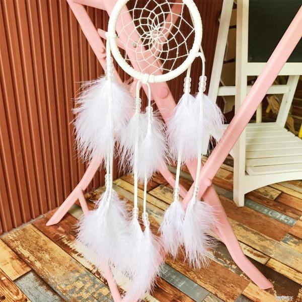 日系少女心可愛軟妹白色羽毛捕夢網房間裝飾拍攝道具掛飾 凱斯盾數位3C