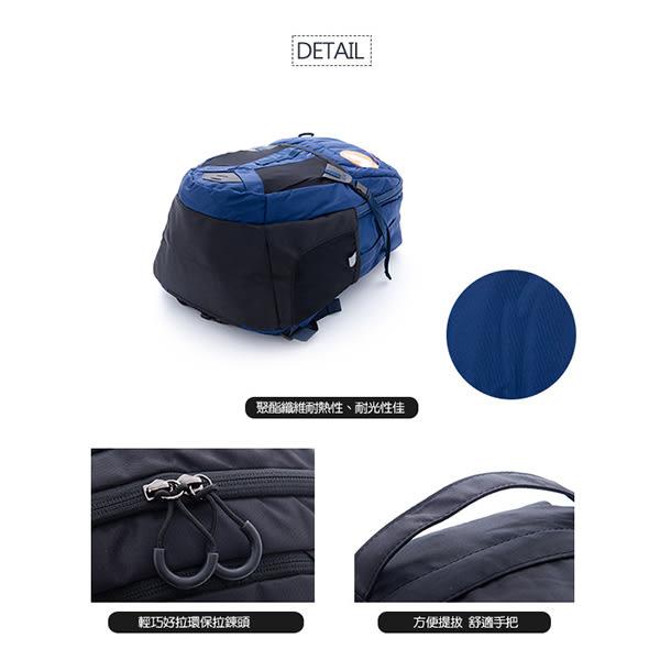 美國 AIRWALK 甲蟲不飛 謢脊胸腰扣越野用筆電後背包-深藍