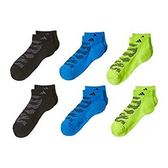 Adidas-  愛迪達Tiger學童6雙組低切襪子(黑/藍/綠色)