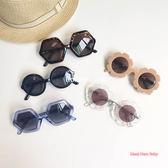 ins爆款簡約兒童墨鏡透明花朵復古男女寶寶防紫外線偏光太陽眼鏡范思蓮恩