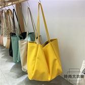 包包軟皮購物袋托特包大單肩包大容量女包【時尚大衣櫥】