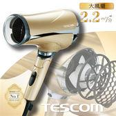 TESCOM TID2510TW 超大風量負離子吹風機(香檳金)