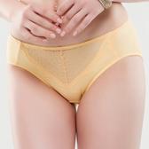 思薇爾-晴綻系列M-XXL蕾絲中腰三角內褲(霞金色)