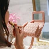帶鏡子口紅包隨身便攜大容量收納補妝化妝袋【繁星小鎮】