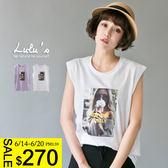 LULUS-D韓製-NEWYORK女孩照片無袖上衣  現+預【01111222】