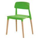 【森可家居】智喜綠色餐椅 7ZX884-3 實木 北歐風 繽紛
