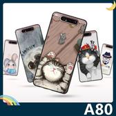 三星 Galaxy A80 彩繪Q萌保護套 軟殼 卡通塗鴉 超薄防指紋 全包款 矽膠套 手機套 手機殼