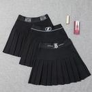 半身裙女春裝2021新款韓版款大碼字母高腰百褶裙短裙胖mm裙褲 快速出貨