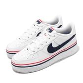 Nike 休閒鞋 Air Force 1 LV8 1 GS 白 紅 女鞋 大童鞋 運動鞋 【PUMP306】 CW0984-100