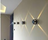 led十字星光燈戶外防水壁燈彩色燈