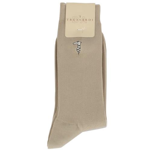 TRUSSARDI 棉質紳士休閒襪(褐色))980030-8
