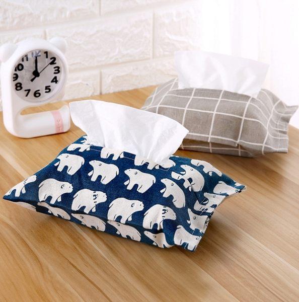 秋奇啊喀3C配件----日式棉麻紙巾套布藝紙巾盒抽紙套家用創意防水紙巾抽紙袋