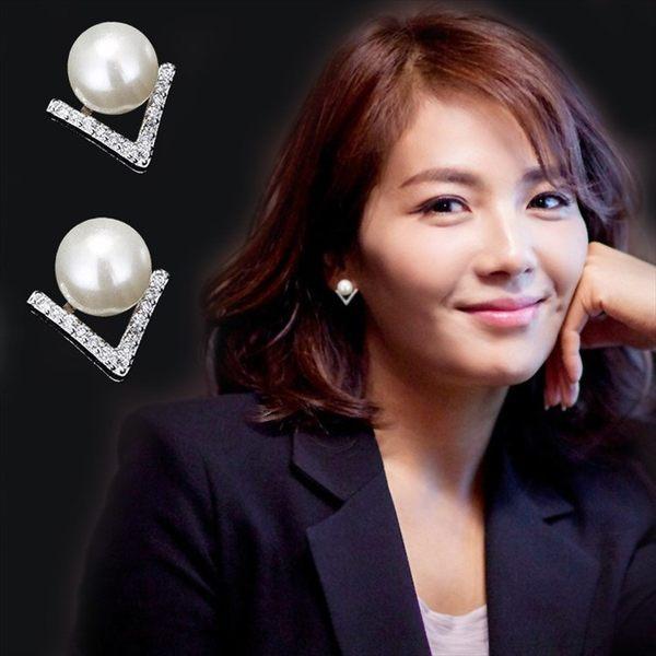 現貨-歡樂頌劉濤同款925純銀耳飾珍珠耳環百搭氣質耳釘女防過敏-C126