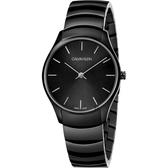 Calvin Klein CK Classic 時尚女錶-黑/32mm K4D22441