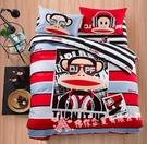 paul frank 正版 有鐳標 標準雙人床包組 卡通床包 搖滾猴 精梳純棉 5尺 大嘴猴 PF 黑色 佛你企業