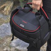 攝影包 相機包佳能80D800D6D2EOS單反77D750D5D4原裝單肩防水便攜攝影包 夢藝家