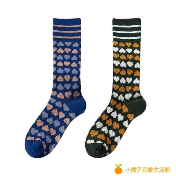 長襪女秋冬小腿襪純棉百搭高筒日系可愛堆堆襪【小橘子】