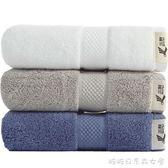 大毛巾純棉洗臉家用柔軟成人全棉吸水加大面巾 3條裝 糖糖日系森女屋