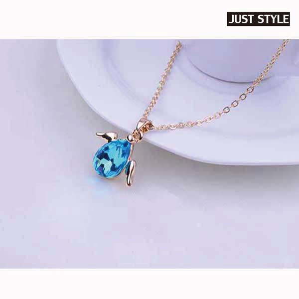 項鏈【JS精心苑】多色選小天使水晶項鍊/飾品/配飾/配件