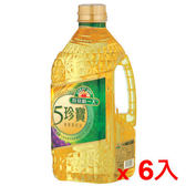 桂格得意的一天五珍寶健康調和油2L*6瓶(箱)【愛買】