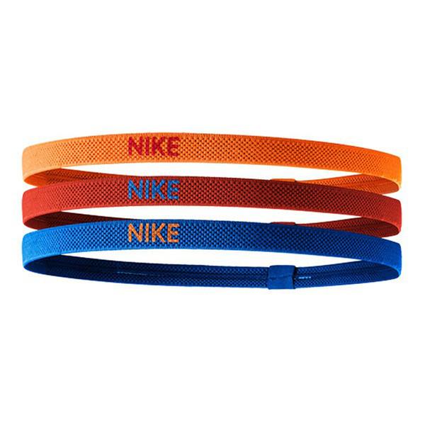 Nike Elastic Hairbands [NJN04986OS] 女 髮帶 髮束 寬版 運動 止滑 黃紅藍 3入