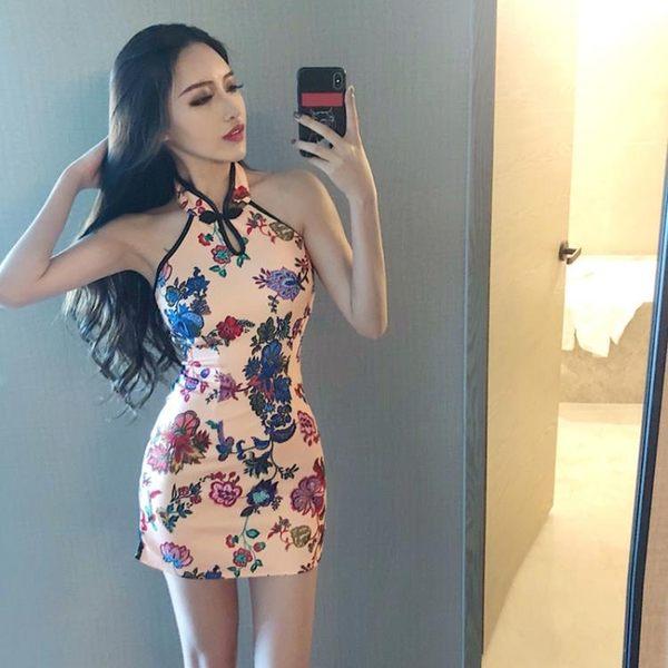 洋裝改良少女小香風學生短款中式復古旗袍女潮   琉璃美衣