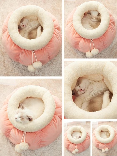 TOM CAT網紅貓窩冬季保暖可拆洗墊子深度睡眠貓窩寵物窩貓咪用品