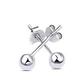 925純銀耳環(耳針式)-生日情人節禮物光面小圓球簡約百搭女飾品5款73ag85【巴黎精品】