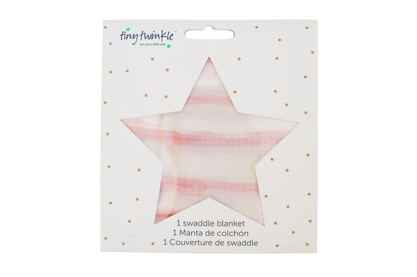 美國tiny twinkle Swaddle Blanket Single 紗布巾單入-鯨魚