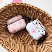 蘋果 AirPods 保護套 粉花 Apple藍牙耳機盒 保護殼