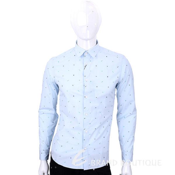 KENZO 水藍色符號刺繡長袖襯衫 1540422-27