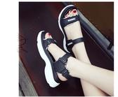 厚底涼鞋-新款運動涼鞋女夏季韓版時尚厚底學生百搭魔術貼女鞋子沙灘鞋 花間公主