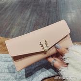 包包女新款潮韓版時尚折疊休閑簡約百搭氣質手拿大氣長款錢包  傑克傑克館