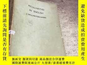 二手書博民逛書店PECULIARITIES罕見IN ENGLISH J.MILL