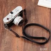 相機帶-適用索尼黑卡RX100M3M4M5M6理光GR2GR3G7X23微單相機羊皮背帶肩帶 東川崎町