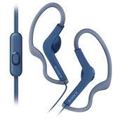 SONY MDR-AS210AP 防水運動耳掛式耳機 免持通話藍色