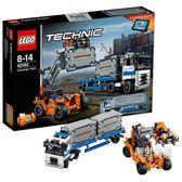 積木機械組42062集裝箱工程車組合Technic積木玩具收藏xw