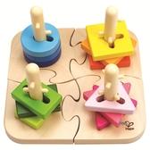【免運費】《 德國 HAPE 愛傑卡 》創意樁木幾何拼圖  ╭★ JOYBUS玩具百貨