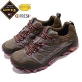 Merrell 戶外鞋 Moab FST GTX 咖啡 紫 女鞋 Gore-Tex 防水 透氣 越野 休閒鞋 運動鞋 【PUMP306】 ML37154