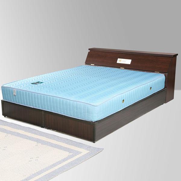 YoStyle 席歐5尺雙人床組(床頭箱+床底)(胡桃)