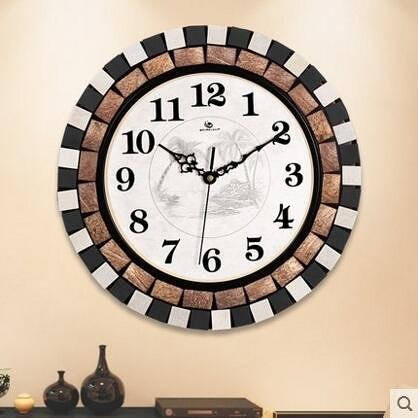 【衫衫來時】weimeishi歐式藝術鐘錶靜音時掛鐘107D